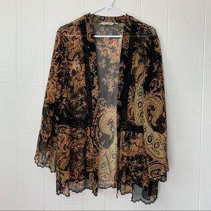 Soft Surroundings Sheer Kimono B59
